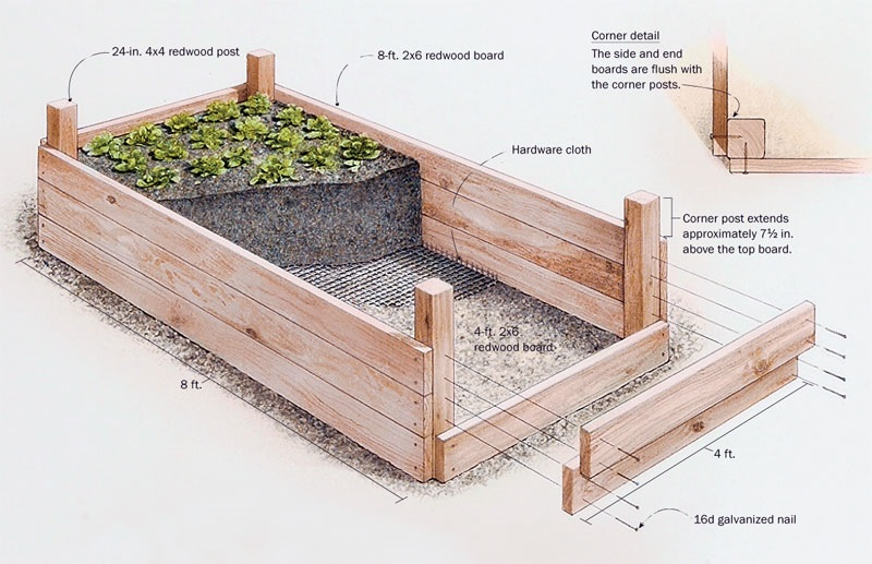 Raised Bed Vegetable Garden Traditional Landscape San Vegetable